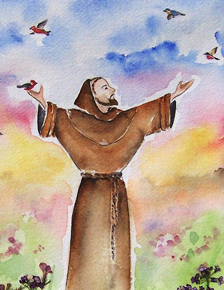 In the Vineyard with St. Francis