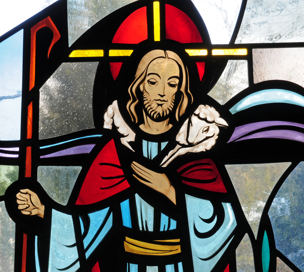 Detail,Of,Stained,Glass,Window,Of,Jesus,Christ,As,The
