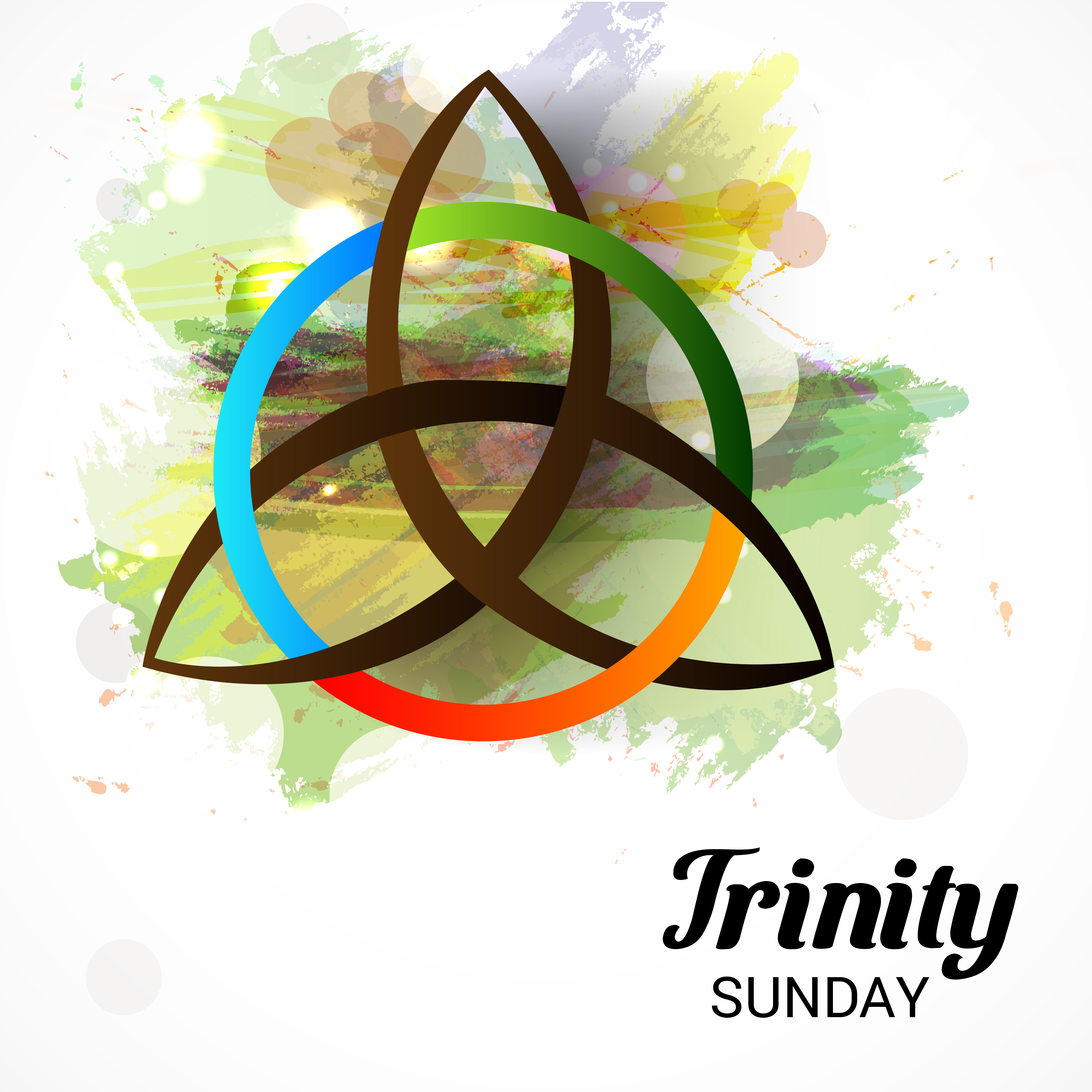 Vector,Illustration,Of,A,Background,For,Trinity,Sunday.